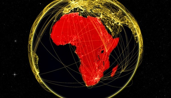 Africa on dark networked Earth